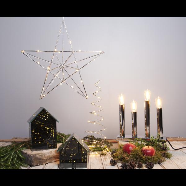 """LED-dekorační svícen """"Dizzy"""" 14x40 cm_3"""