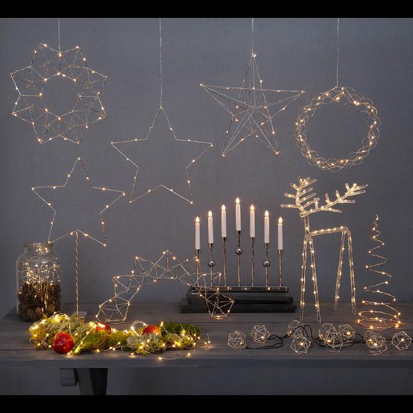 """LED-dekorační svícen """"Dizzy"""" 14x40 cm_4"""