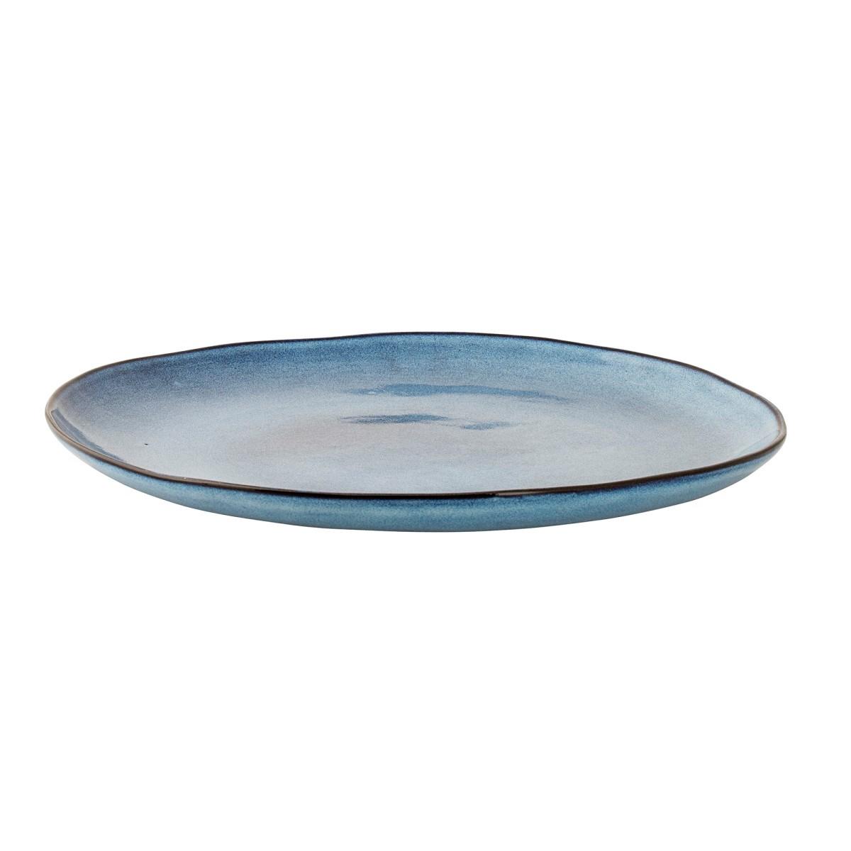 Kameninový talíř P.28.5 cm modrý_0