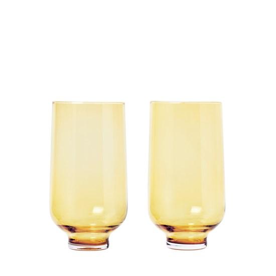 Sklenice FLOW SET/2ks 400 ml zlatá_0