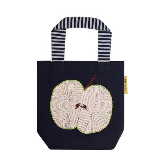 Menší bavlněná taška s korálky 25x24 cm_0