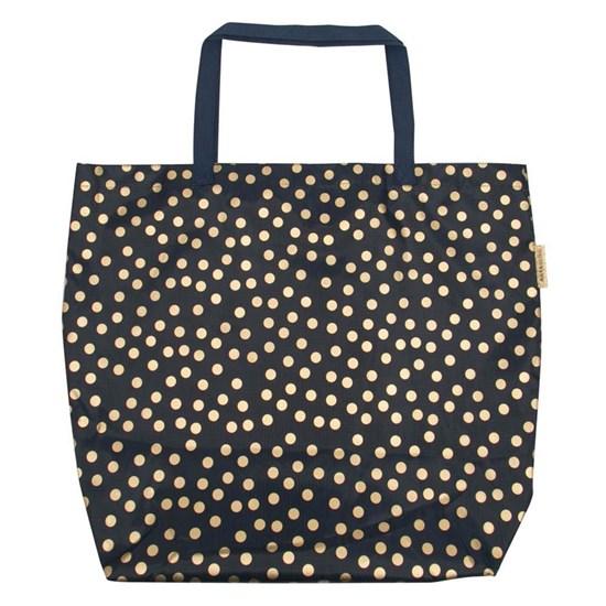 Bavlněná taška na pláž dots/dark blue_0