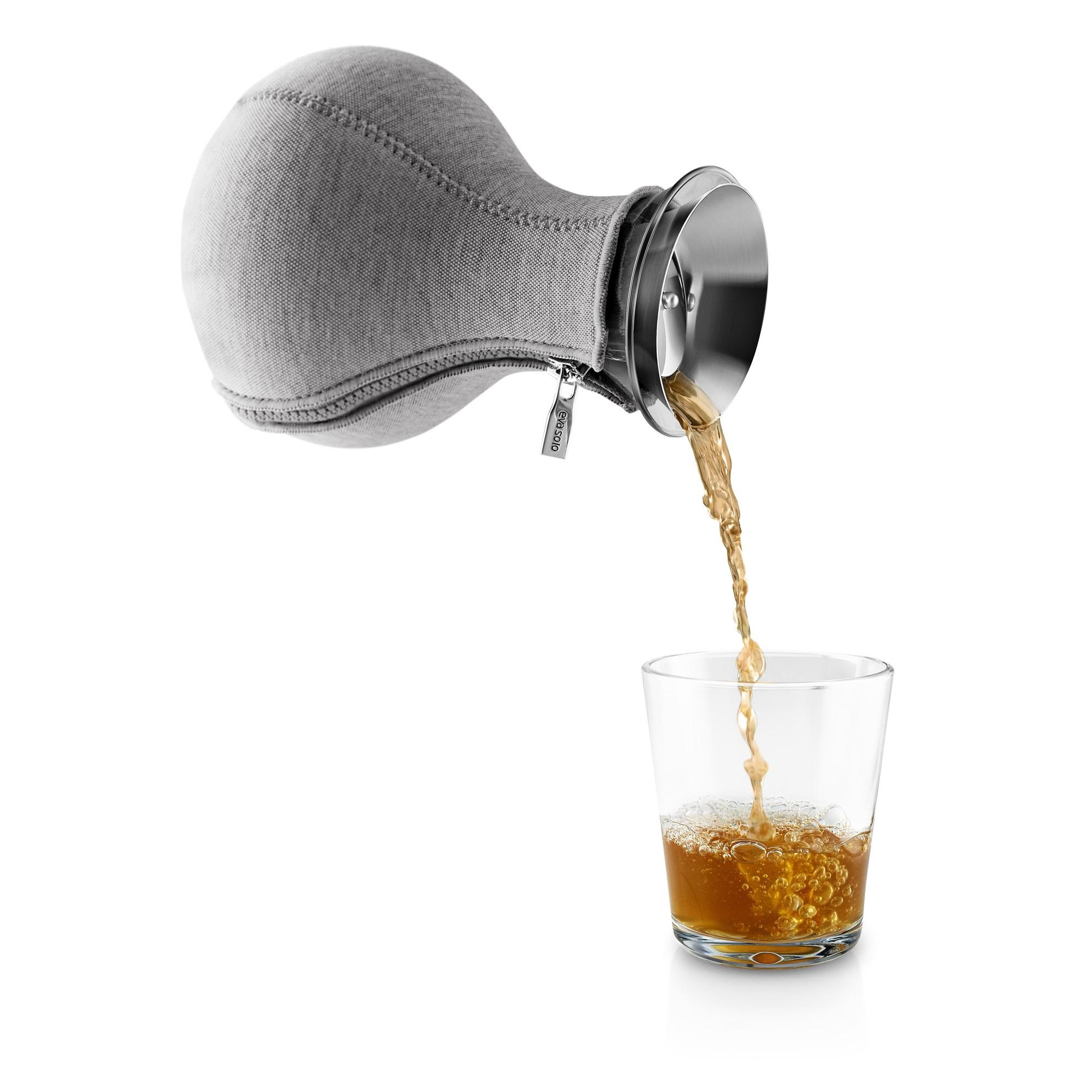 Karafa na výrobu čaje 1l s šedým potahem_1