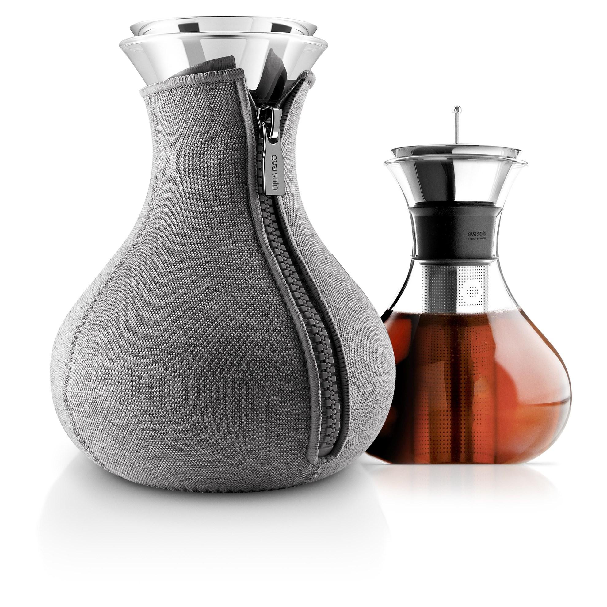 Karafa na výrobu čaje 1l s šedým potahem_2