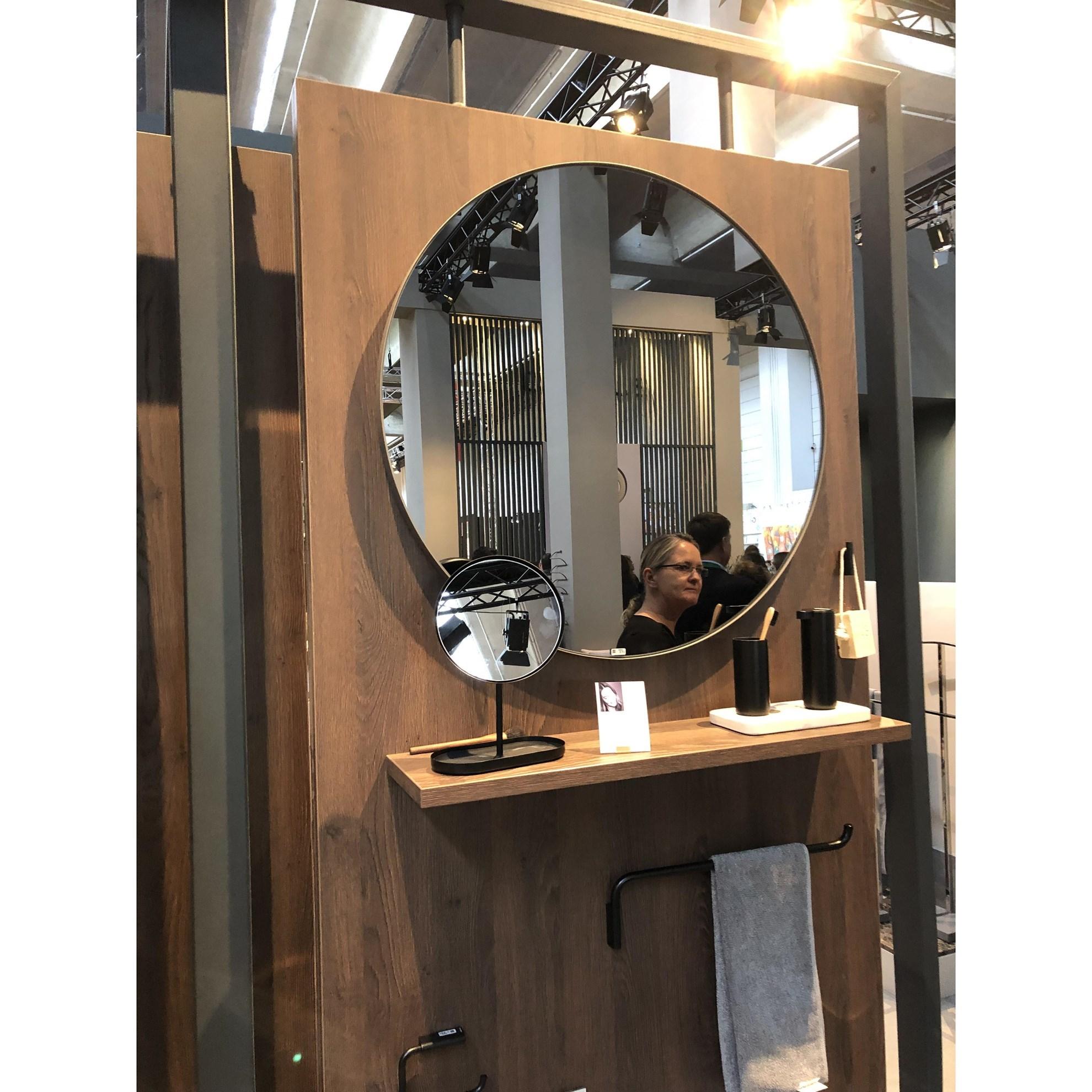 Kulaté závěsné zrcadlo RIM 80 cm nomad_0