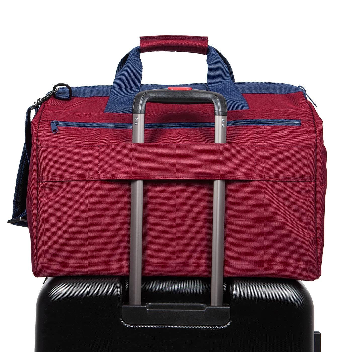 Cestovní taška ALLROUNDER L pocket dark ruby_2