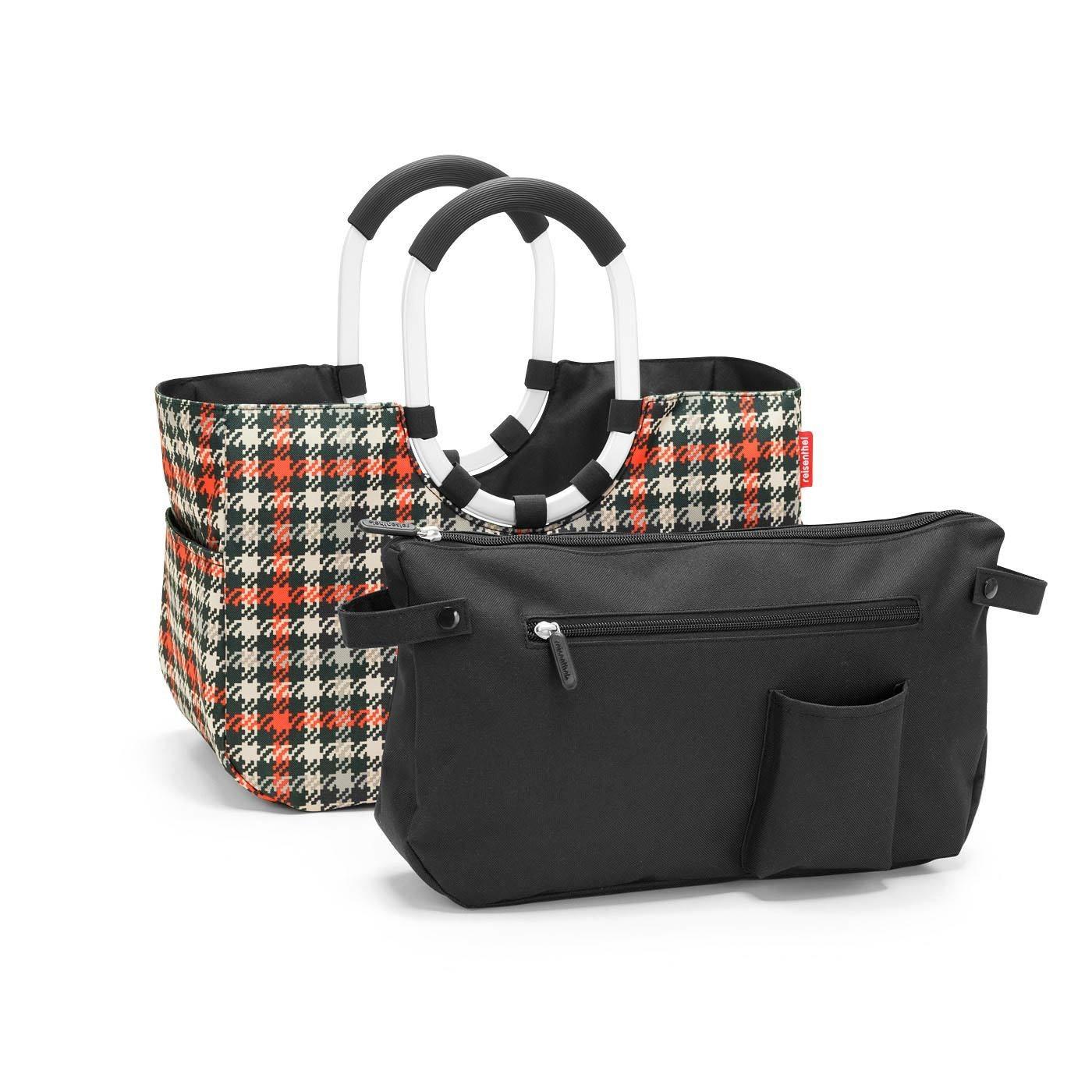 Nákupní taška LOOPSHOPPER M glencheck red_0