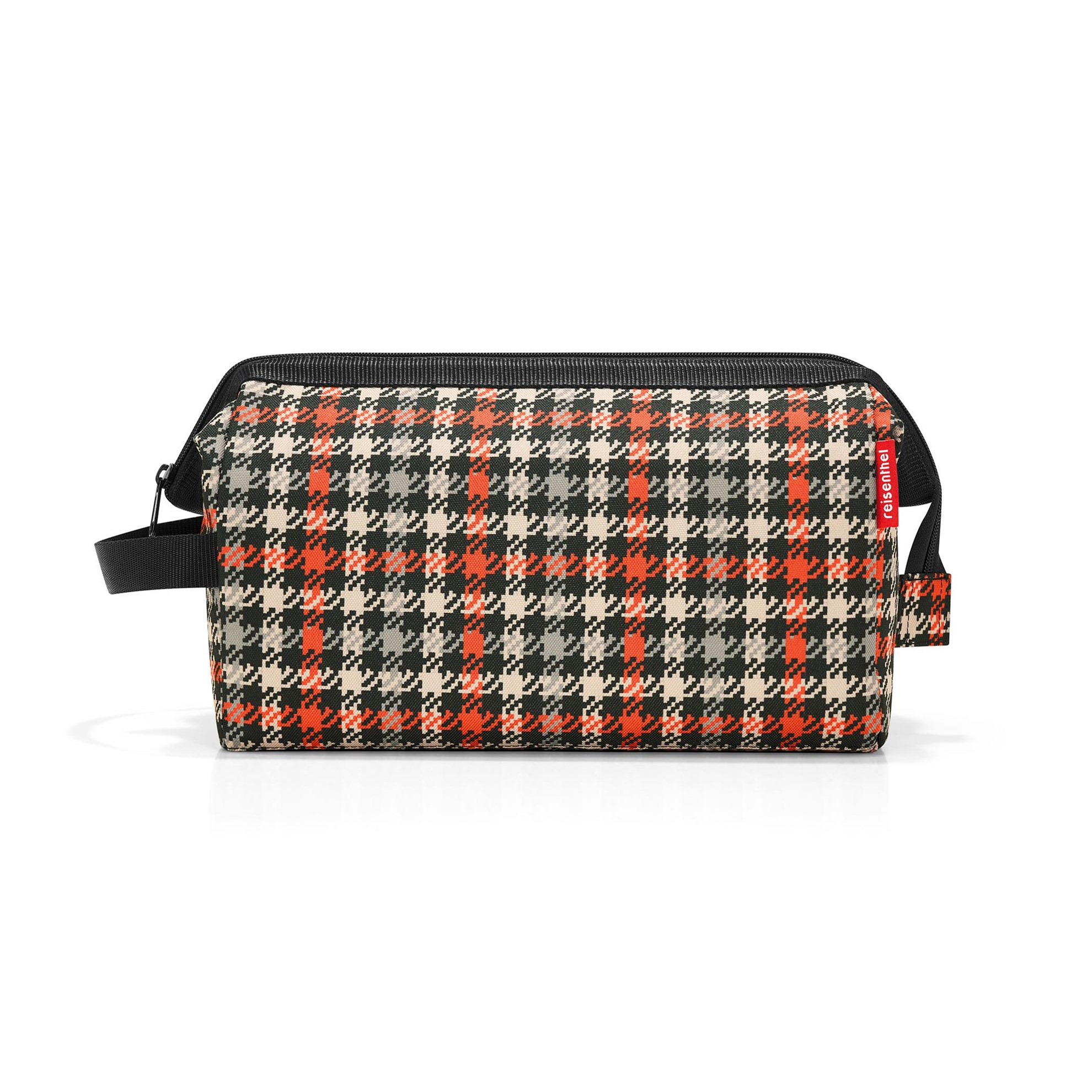 Kosmetická taška TRAVELCOSMETIC XL glencheck red_1