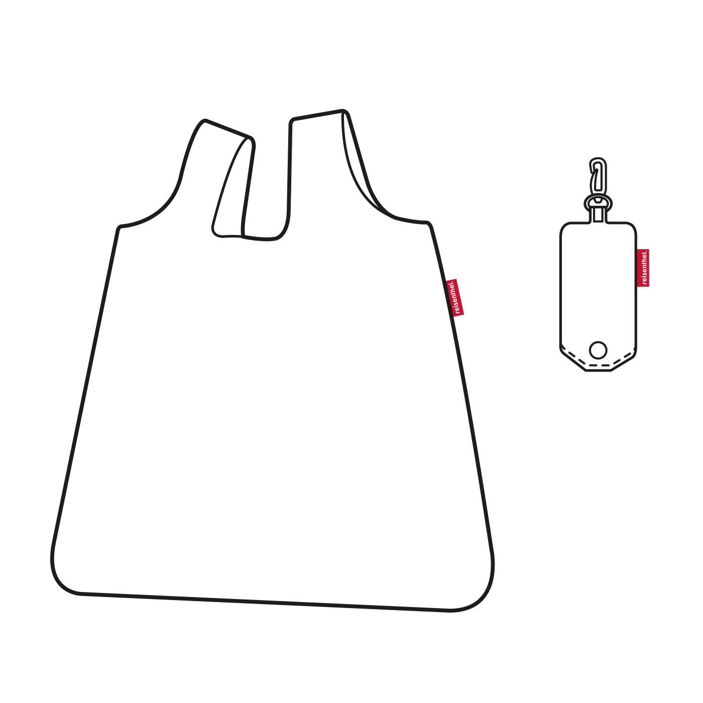 Skládací taška SHOPPER carmine rose_1