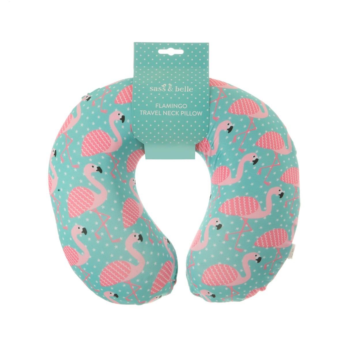 Cestovní krční polštář Tropical Summer Flamingo_1