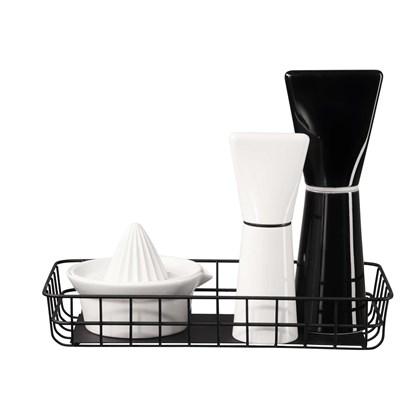 Drátěný košík do kuchyně 30x15 černý_0