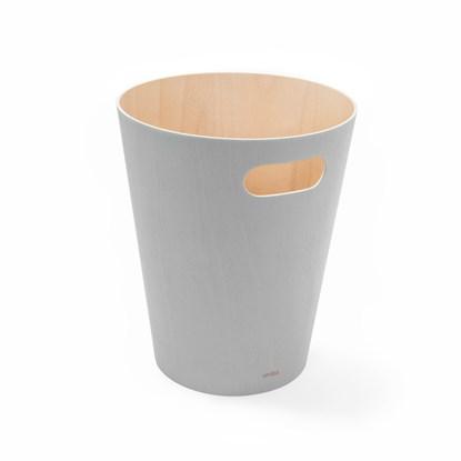 Odpadkový koš WOODROW 28 cm sv.šedý/přírodní_4