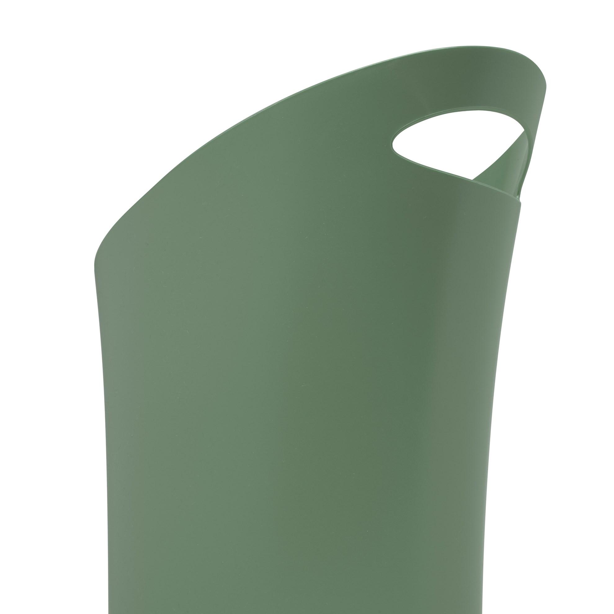Odpadkový koš SKINNY 7,5 l zelenošedý_0