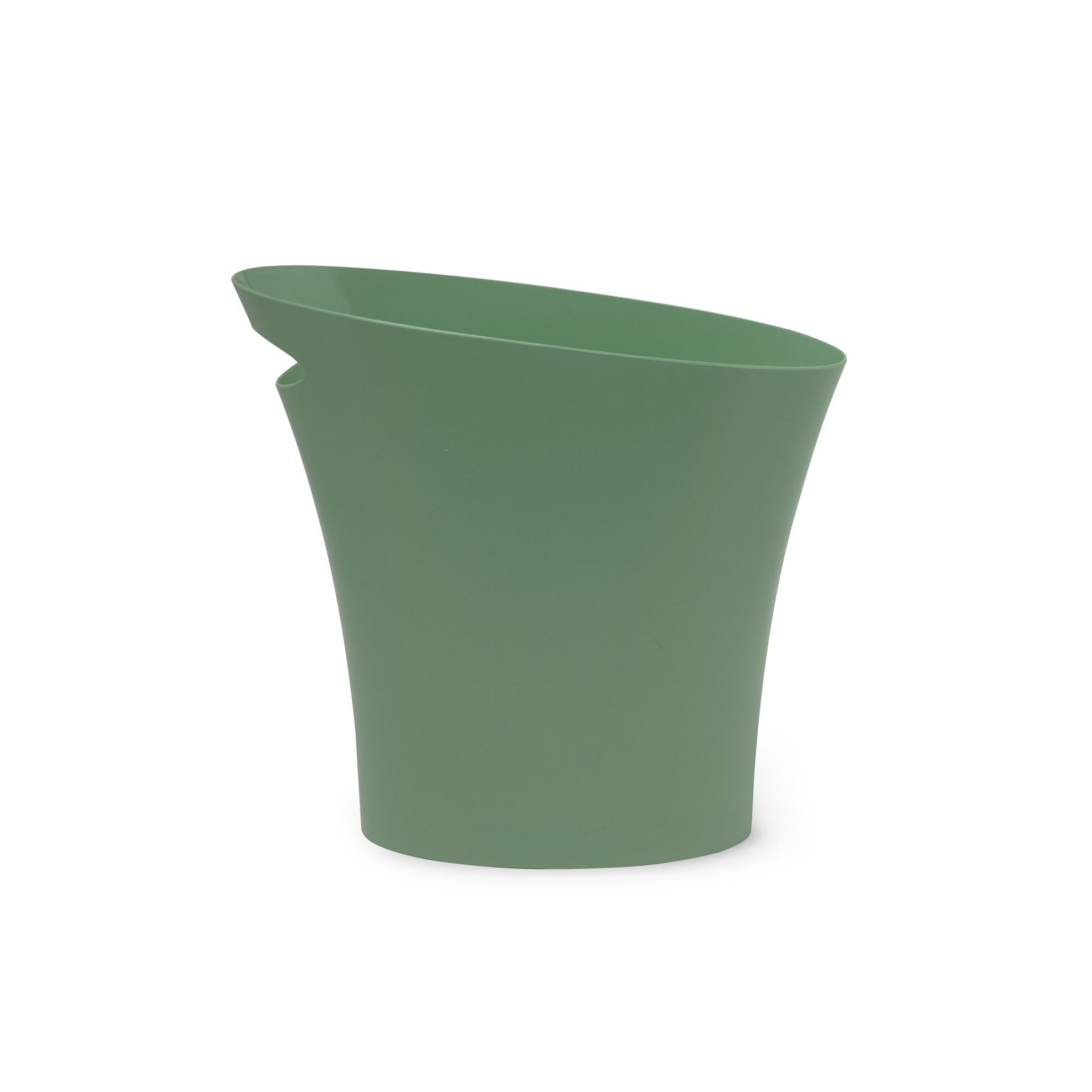 Odpadkový koš SKINNY 7,5 l zelenošedý_3