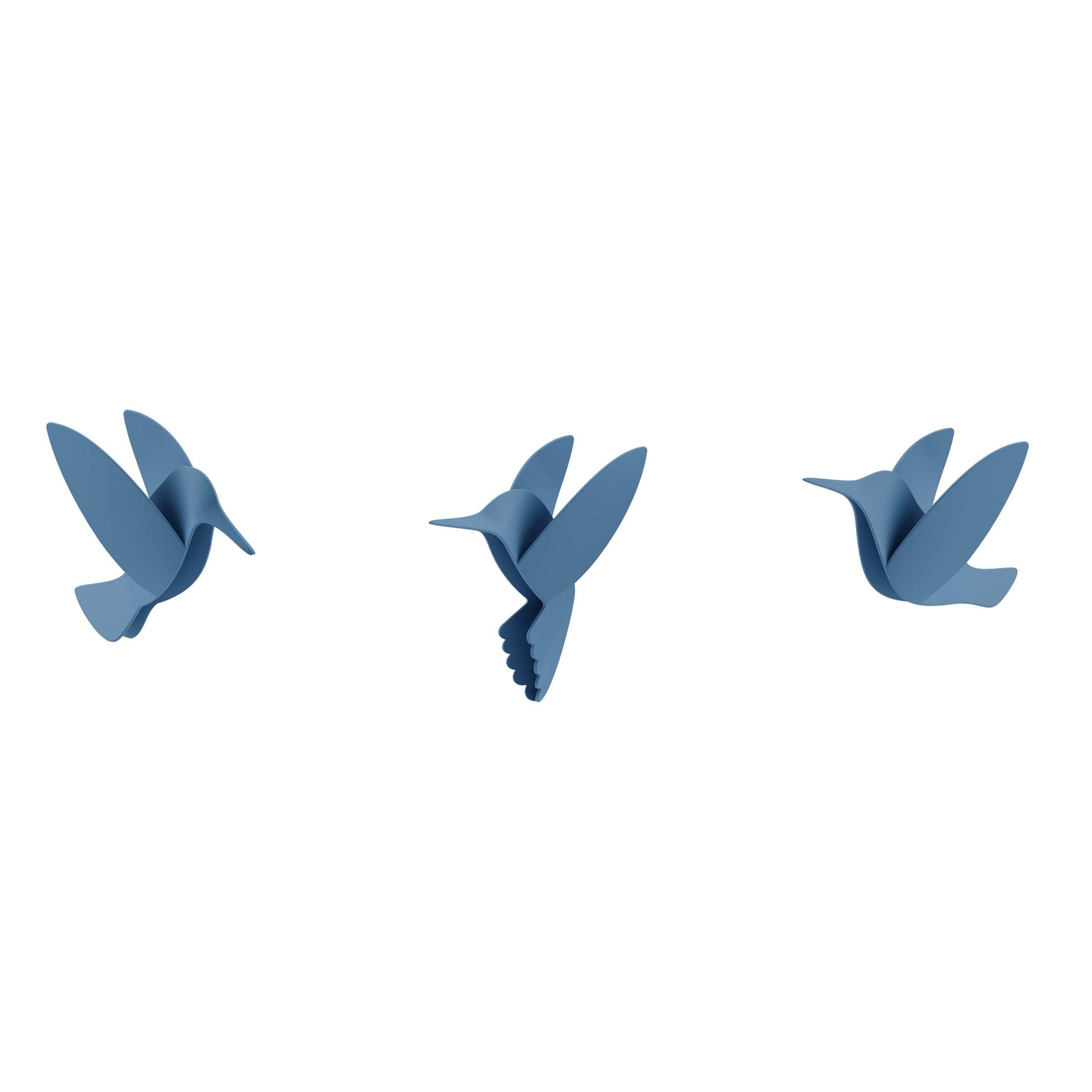 Dekorace na zeď HUMMINGBIRD SET/9ks_10