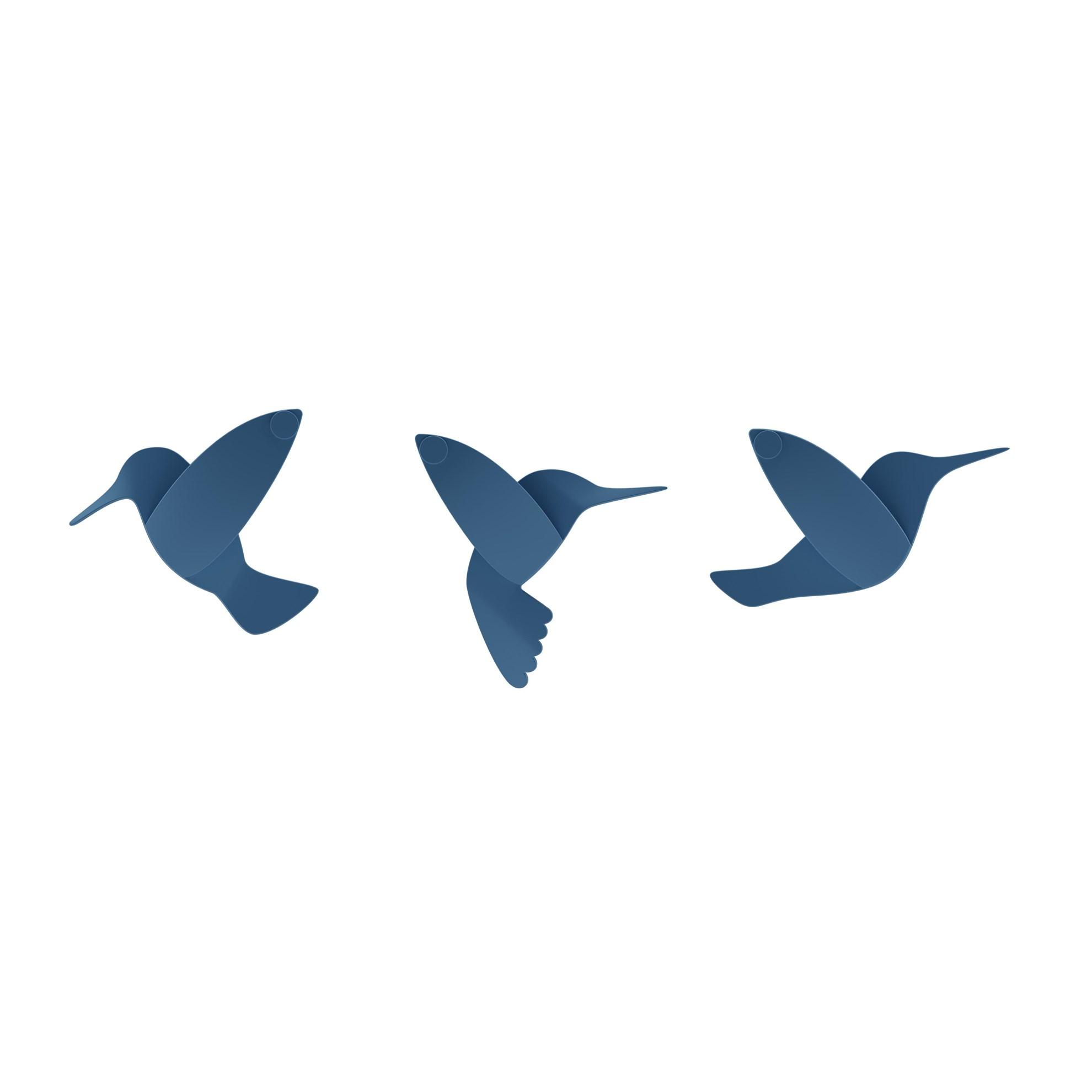 Dekorace na zeď HUMMINGBIRD SET/9ks_11
