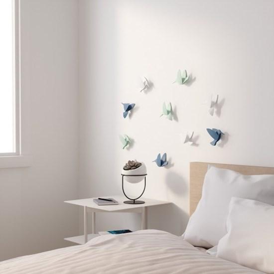 Dekorace na zeď HUMMINGBIRD SET/9ks_12