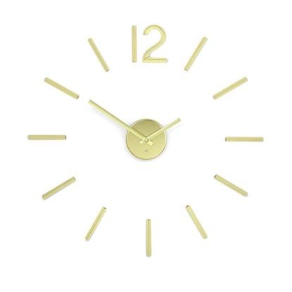 Nástěnné hodiny BLINK mosazné_2