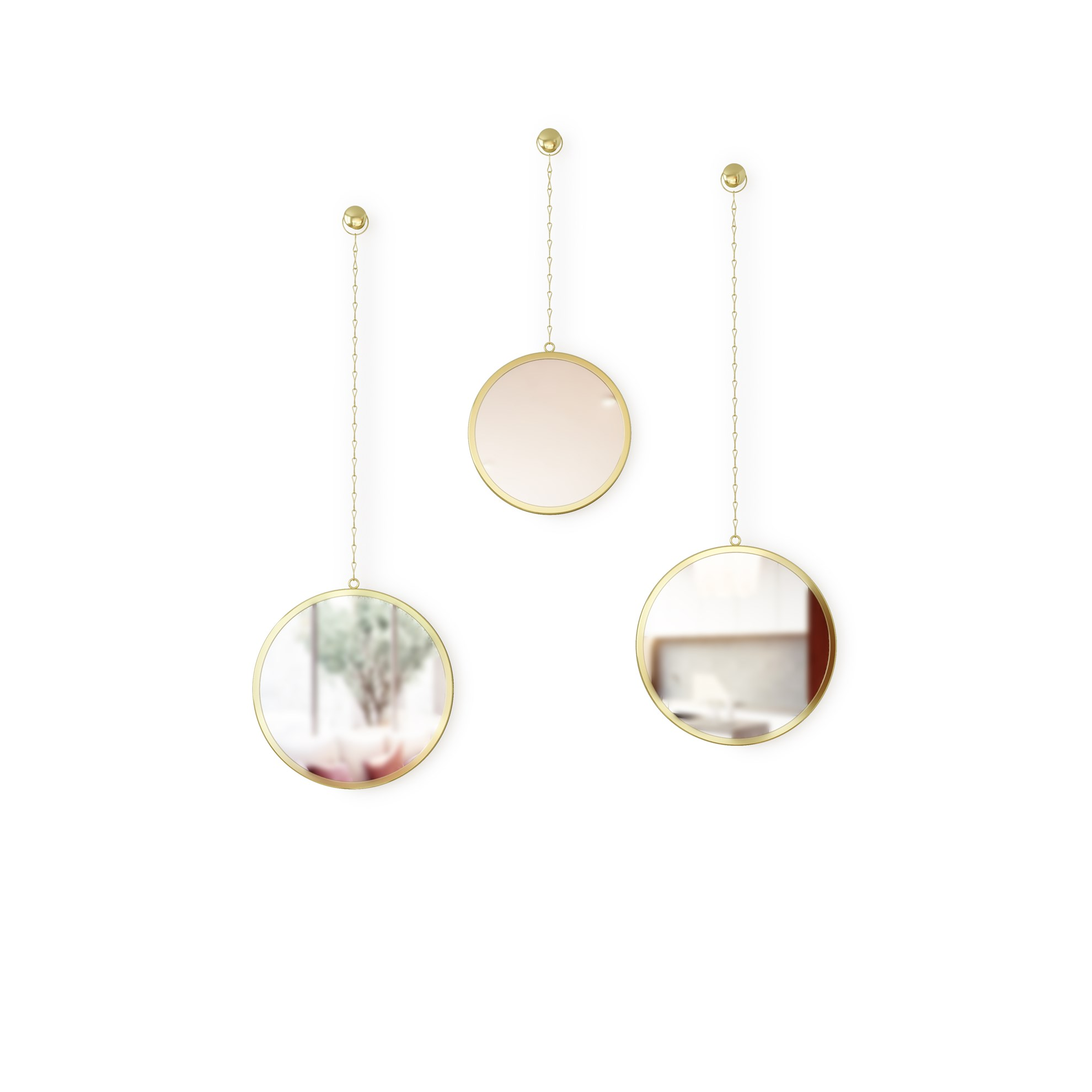 Zrcadlo DIMA set/3ks mosazné_0