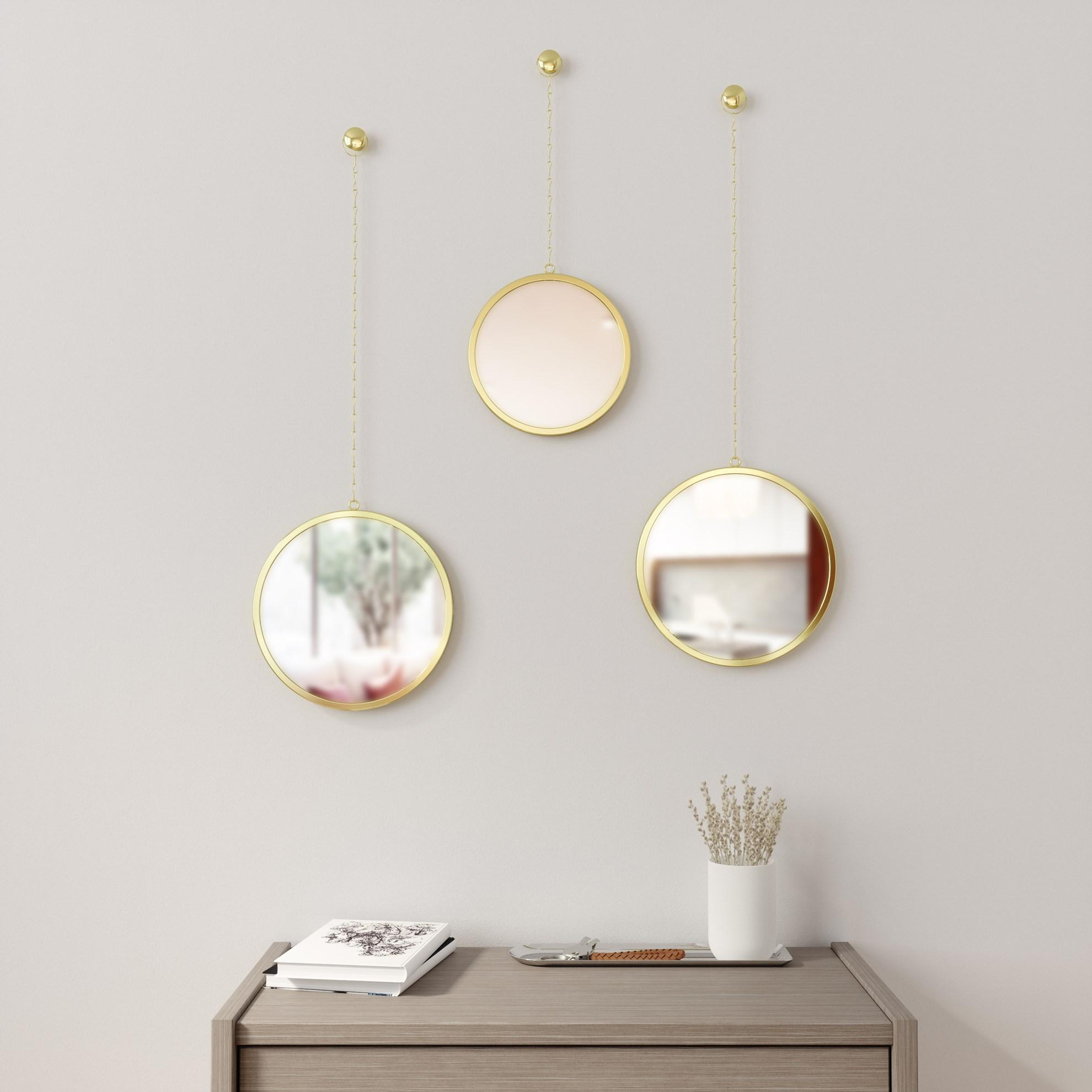 Zrcadlo DIMA set/3ks mosazné_1