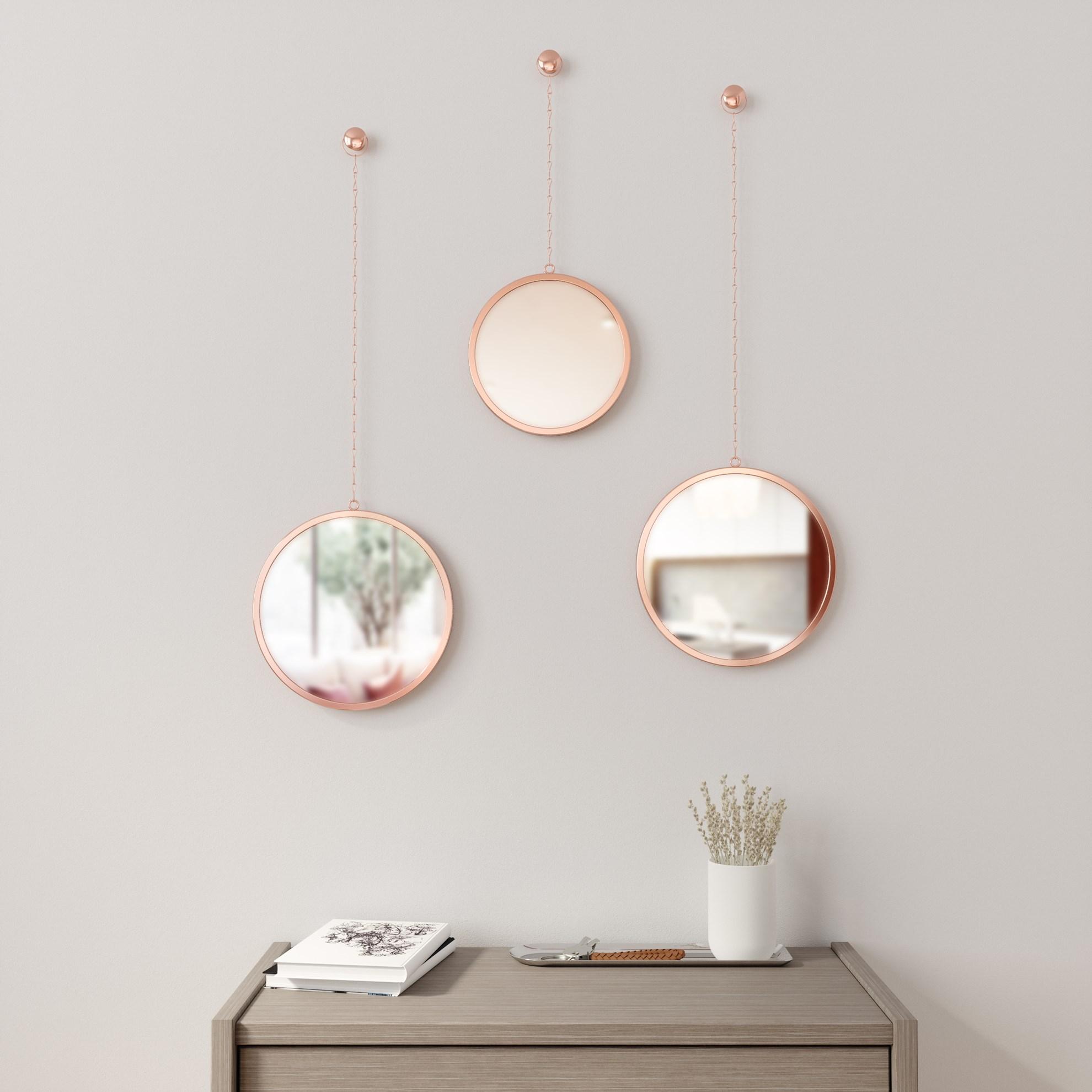 Zrcadlo DIMA set/3ks měděné_1