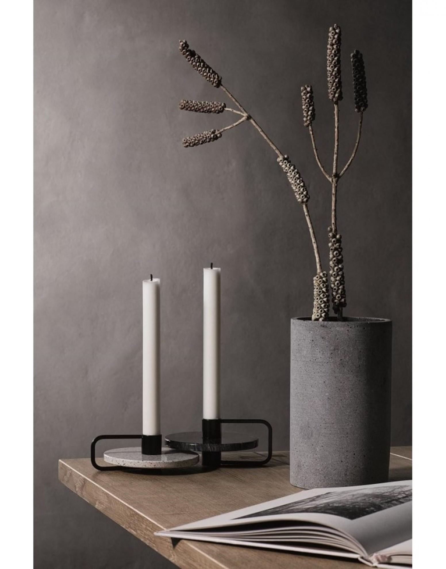 Obrázek z Váza COLUNA 24 cm tmavě šedá