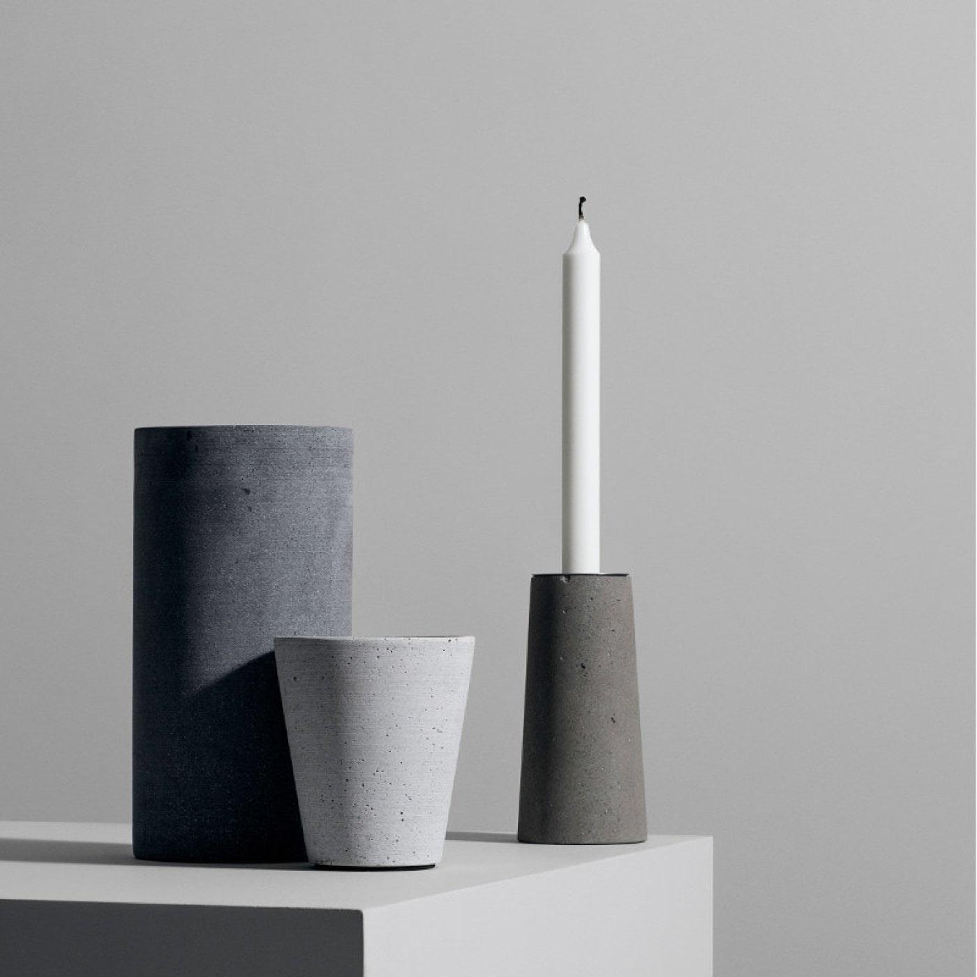 Obrázek z Váza COLUNA 20 cm tmavě šedá
