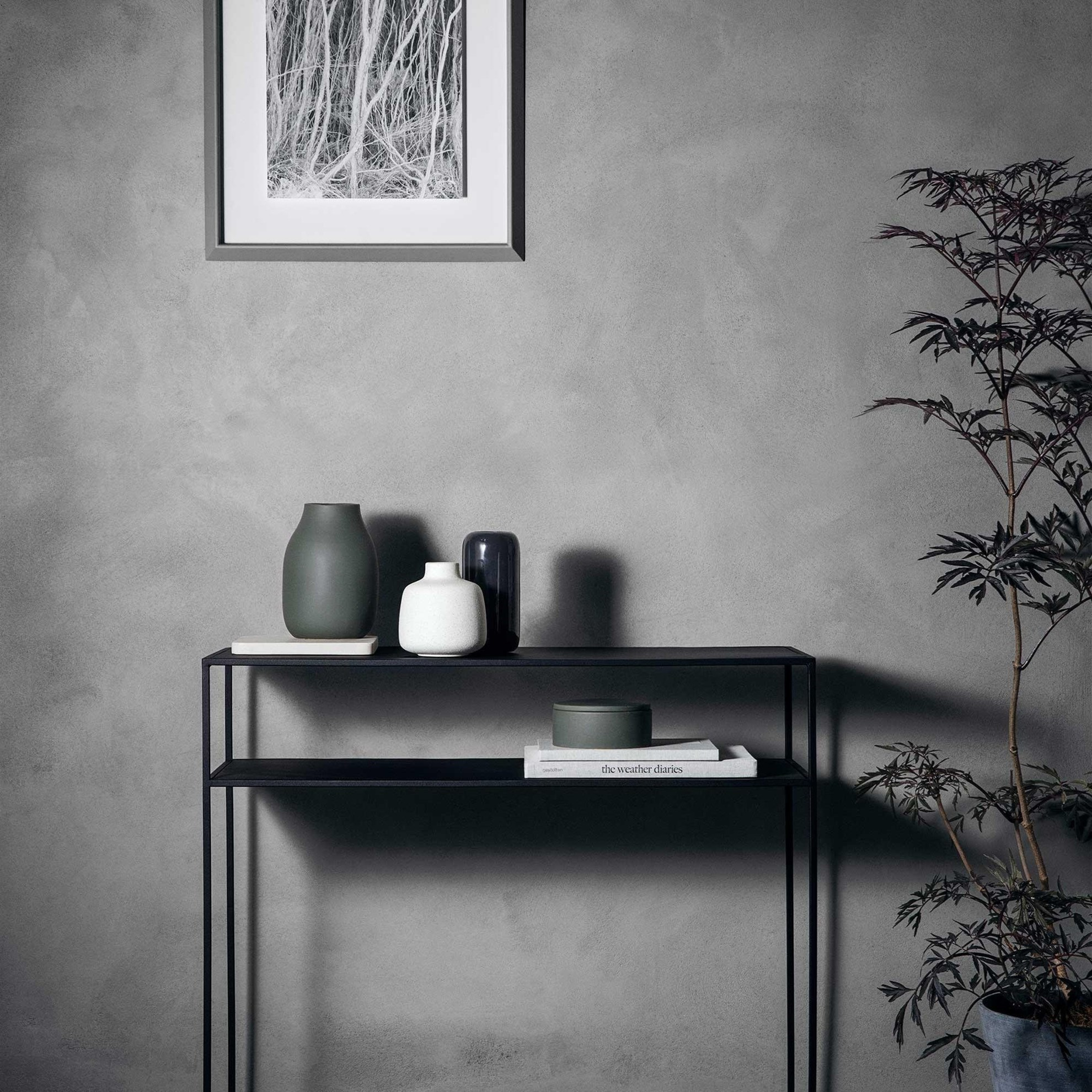 Obrázek z Váza COLORA 15 cm antracitová