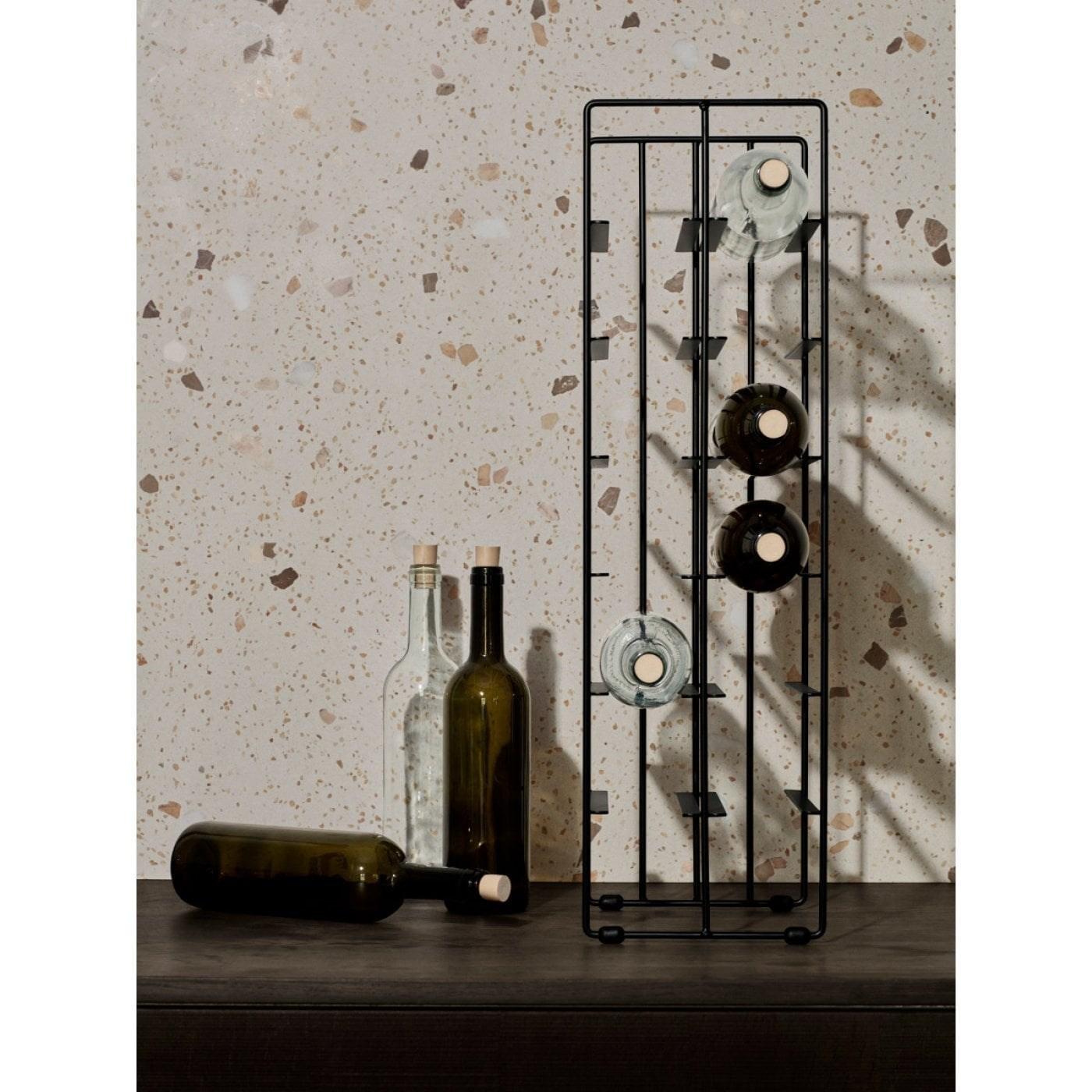 Obrázek z Stojan na víno PILARE na 9 lahví černý