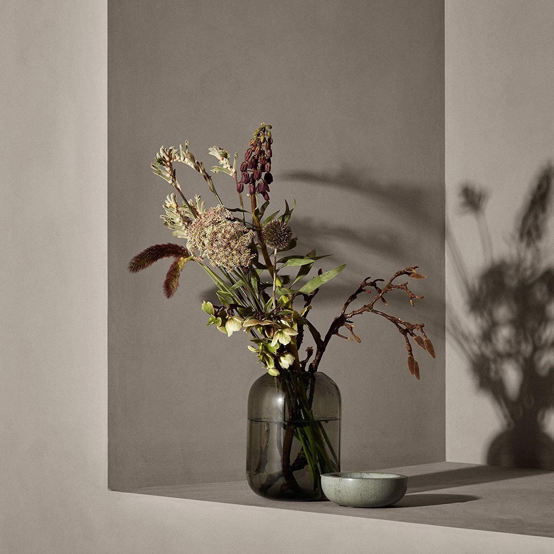 Obrázek z Skleněná váza OVALO 21,5 cm modrá