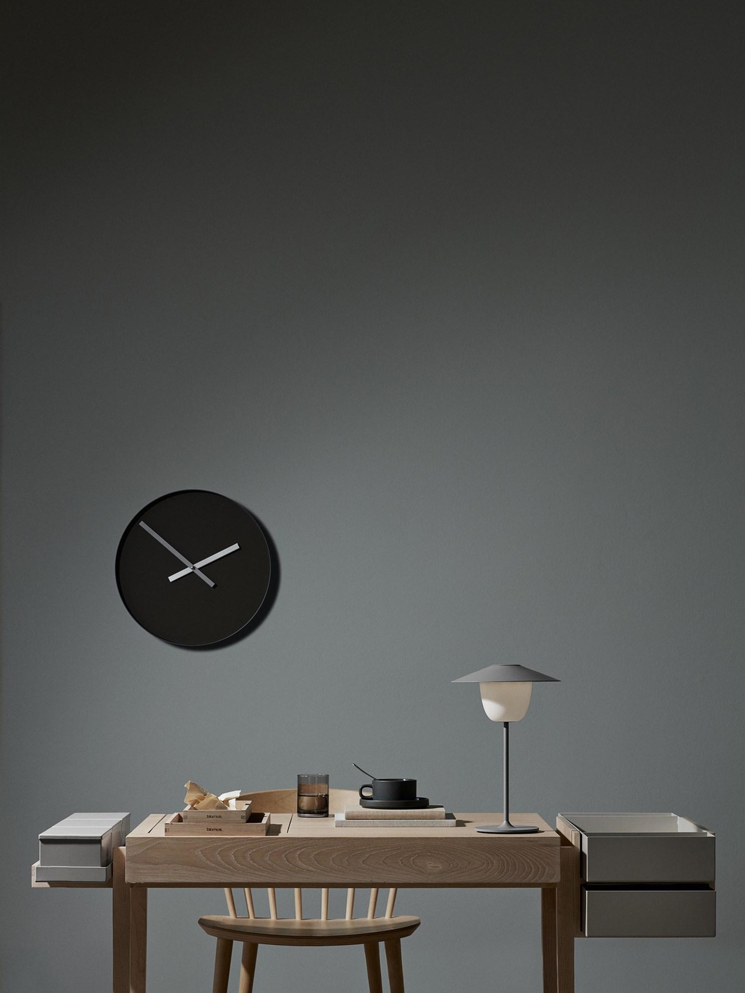 Obrázek z Nástěnné hodiny RIM velké šedé