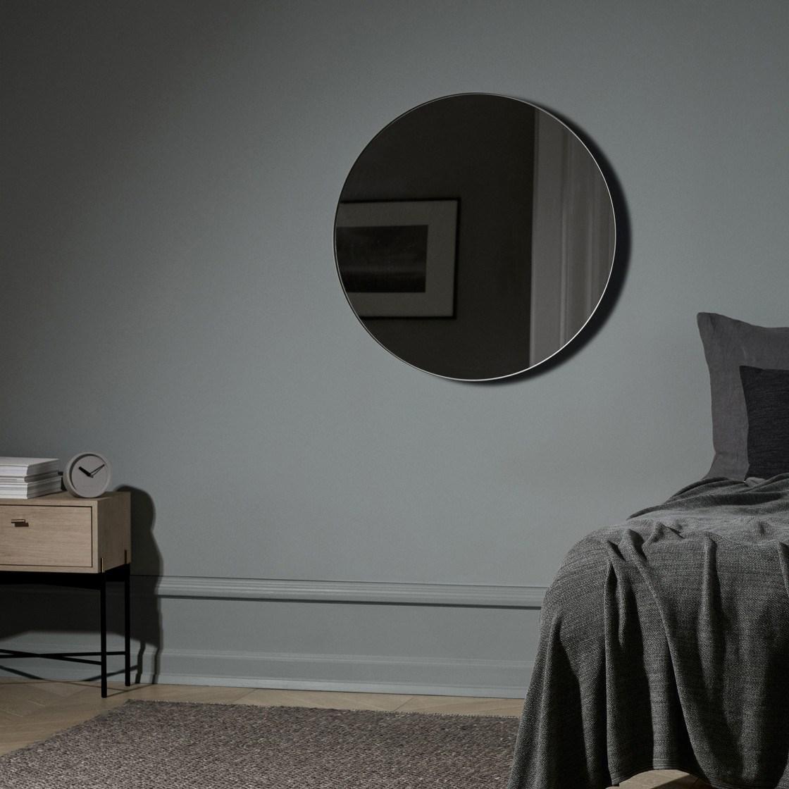 Obrázek z Kulaté závěsné zrcadlo RIM 80 cm světle hnědé