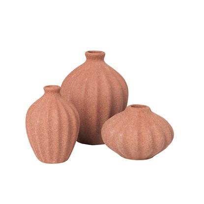 Váza AMALIE 15cm SET/3ks cihlová_0