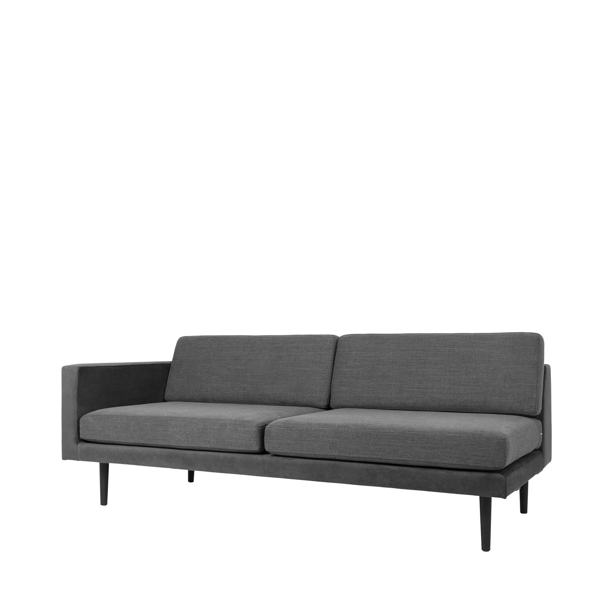 Sofa s pravou područkou OCEAN šedý_0