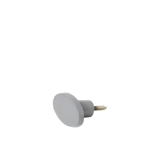 Háček oválný GRETEL 6x4 cm šedý_0