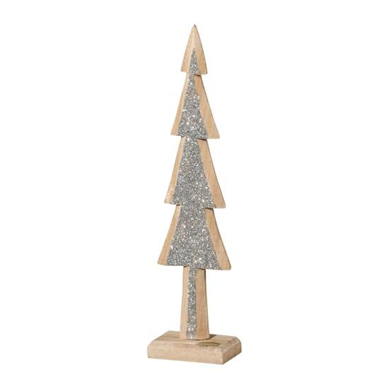 Dřevěný strom se třpytkami GLAM 25 cm_0