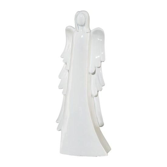 Anděl z polyresinu LOURDES bílý_0