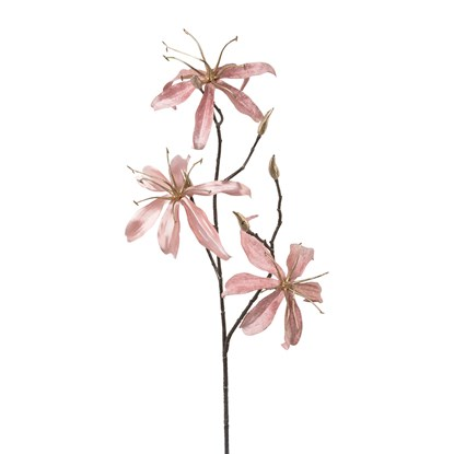 Dekorace větev Gloriosa Velvet růžová_0