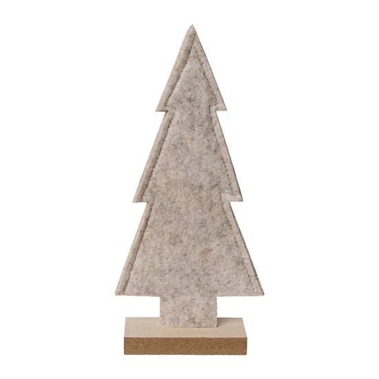 Vánoční strom z filcu šedý 20,5 cm_0