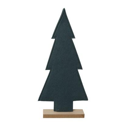 Vánoční strom z filcu tm. šedý 40 cm_0