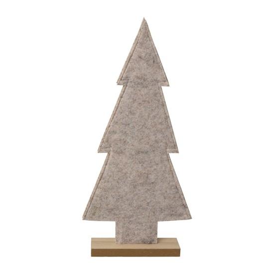Vánoční strom z filcu šedý 40 cm_0