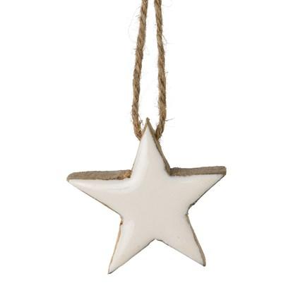 Závěsná hvězda dřevěná se sklem_0