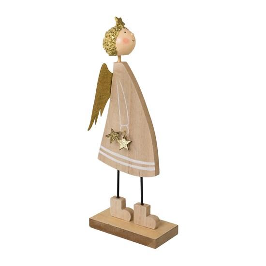 Dřevěný anděl s hvězdami 27 cm_0