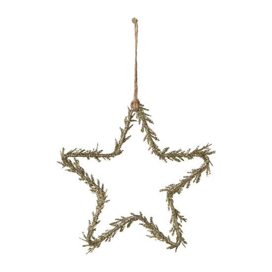 Závěsná hvězda se třpytky zlatá 15 cm_0