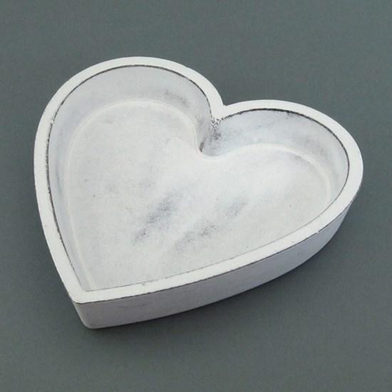 Dřevěná dekorativní mísa srdce 12 cm_0