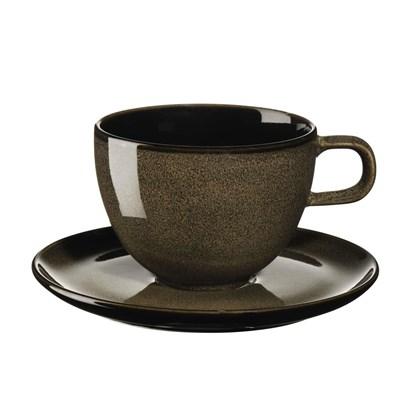 Šálek na kávu s podšálkem KOLIBRI 250 ml ořechový_1