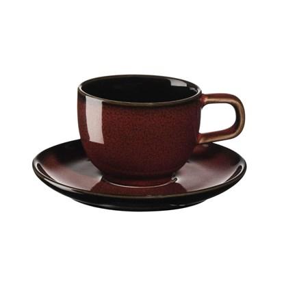 Šálek na espresso s podšálkem KOLIBRI 60 ml červený_1