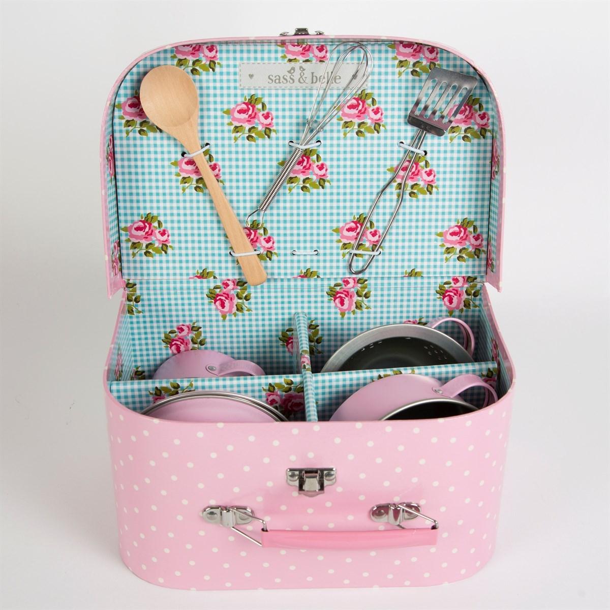 Dětská kuchyňka v kufříku Pastel Pink Play SET/10ks_0