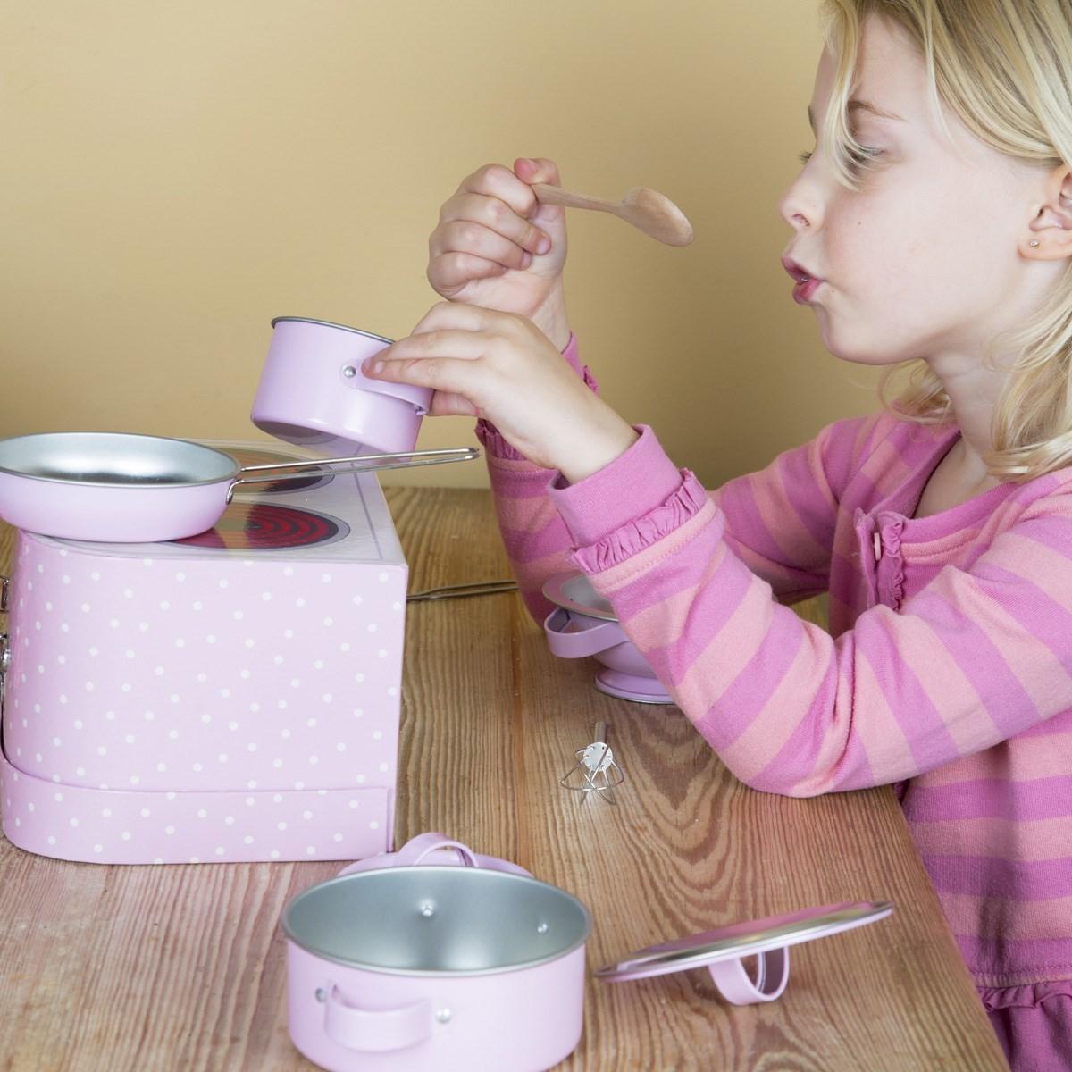 Dětská kuchyňka v kufříku Pastel Pink Play SET/10ks_4