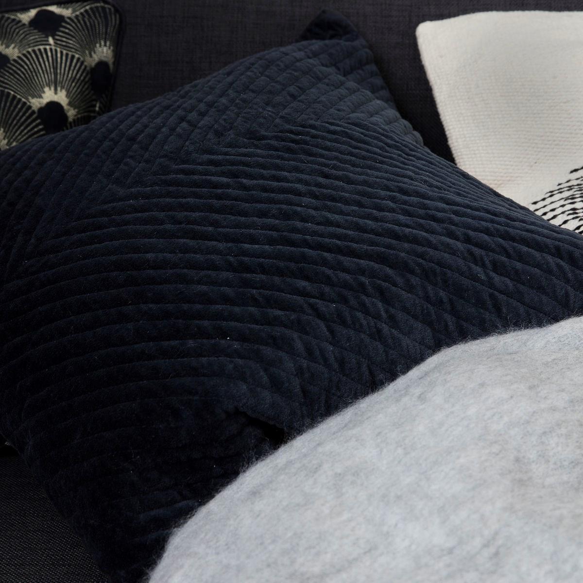 Povlak na polštář Velv 50x50 cm petrolejově modrý_1